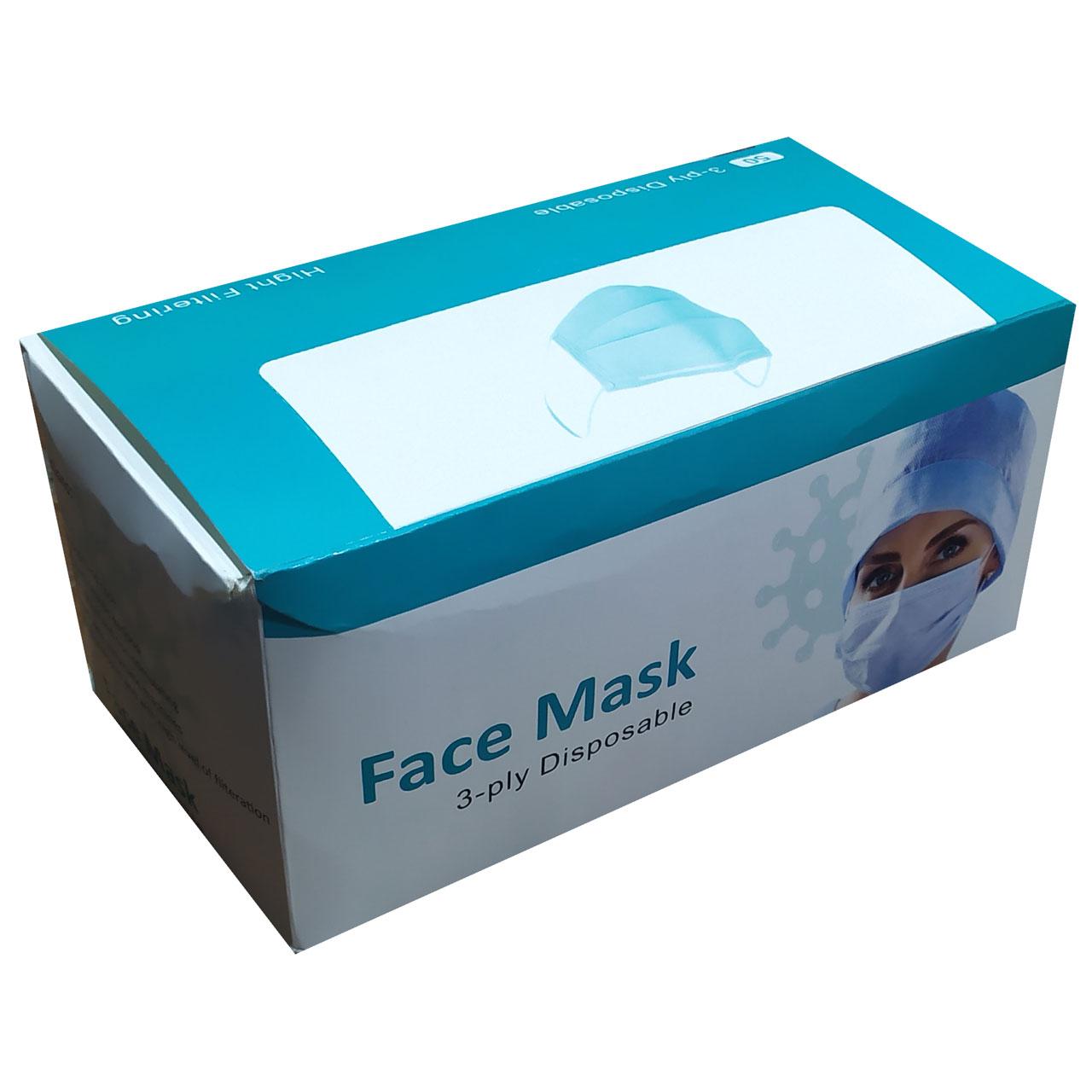 ماسک تنفسی کد 3ply بسته 10 عددی