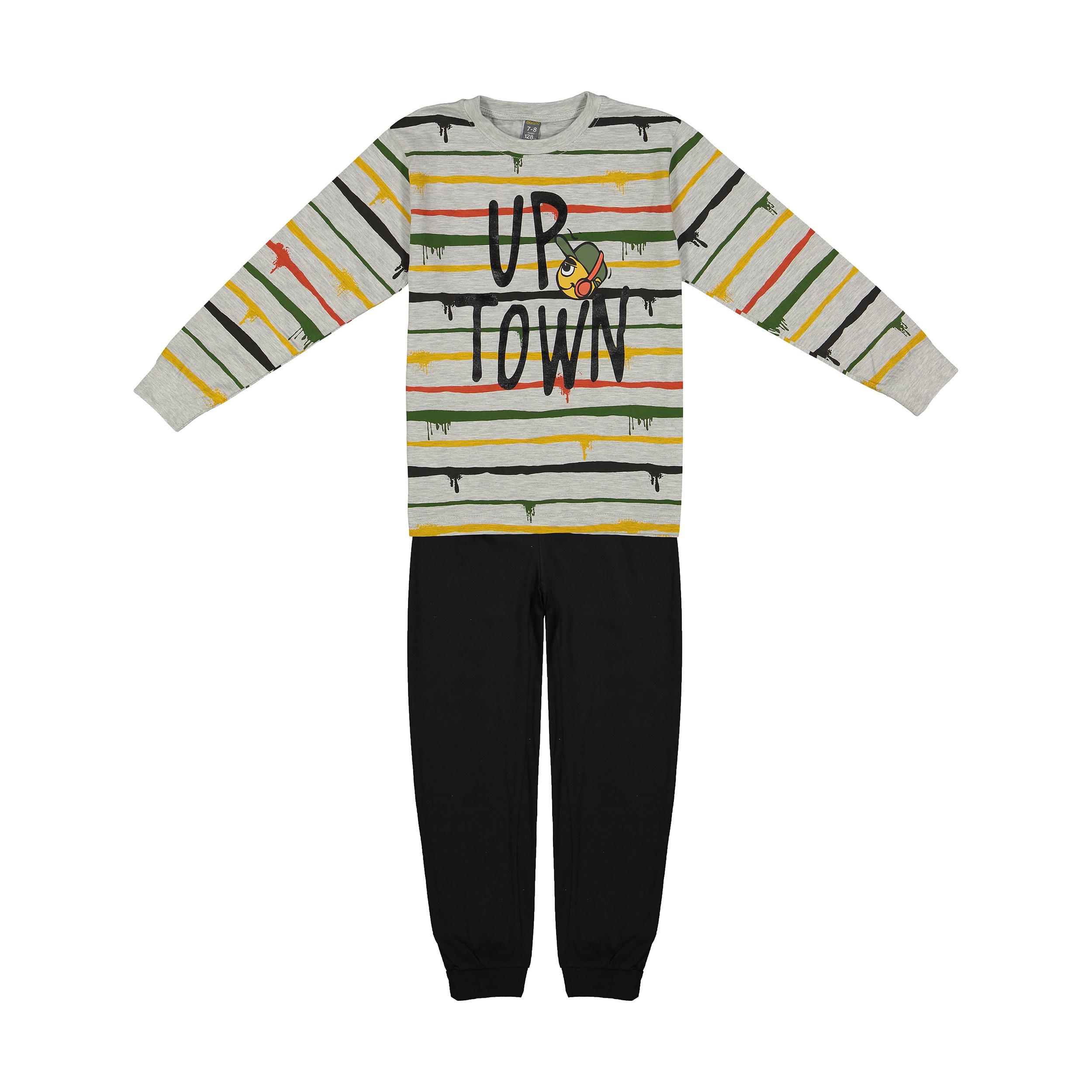 ست تی شرت و شلوار پسرانه بانی نو مدل 2191130-90