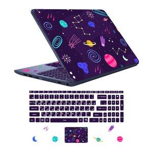 استیکر لپ تاپ کد spa-ce 11 به همراه برچسب حروف فارسی کیبورد