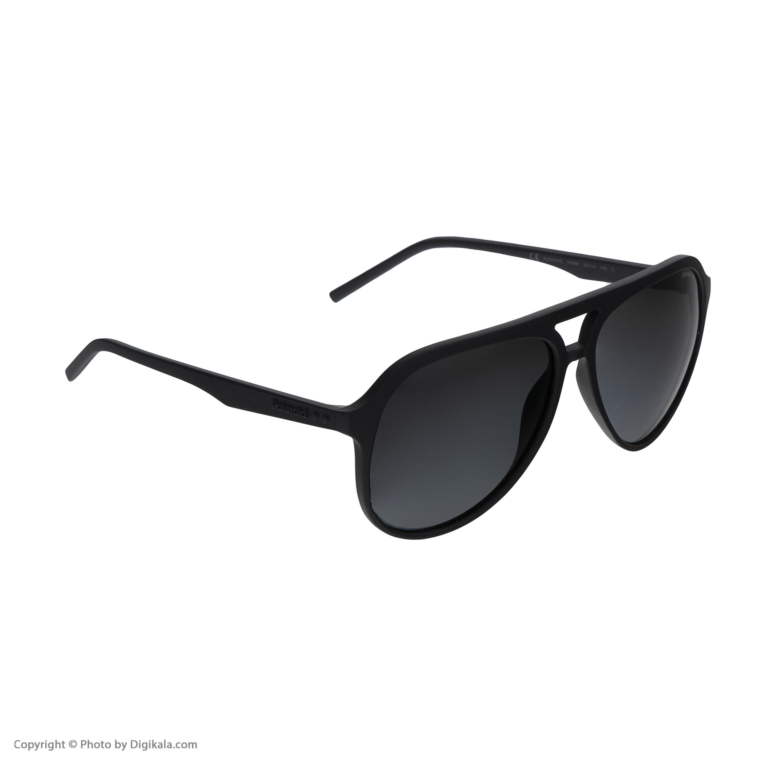 عینک آفتابی مردانه پولاروید مدل pld 2048-mattblack-59