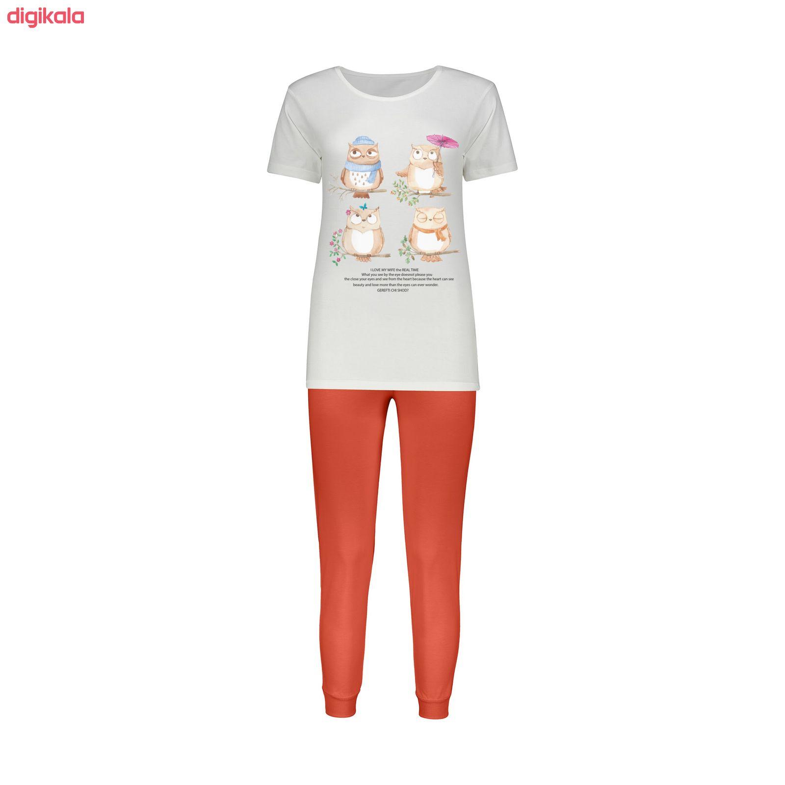 ست تی شرت و شلوار زنانه کد 014 main 1 1