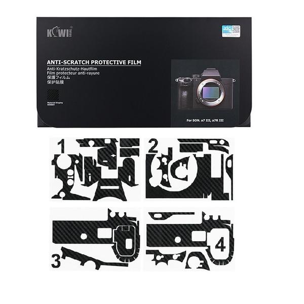 برچسب پوششی کی وی مدل KS-A7III CF مناسب برای دوربین عکاسی سونی a7III / a7RIII