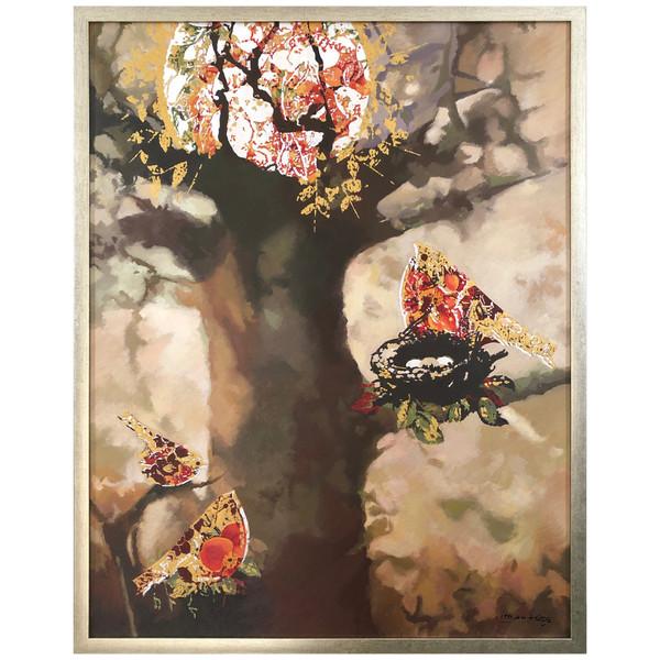 تابلو نقاشی اکریلیک طرح مرغ خزان کد Payar04