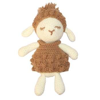 عروسک بافتنی طرح گوسفند کد 18