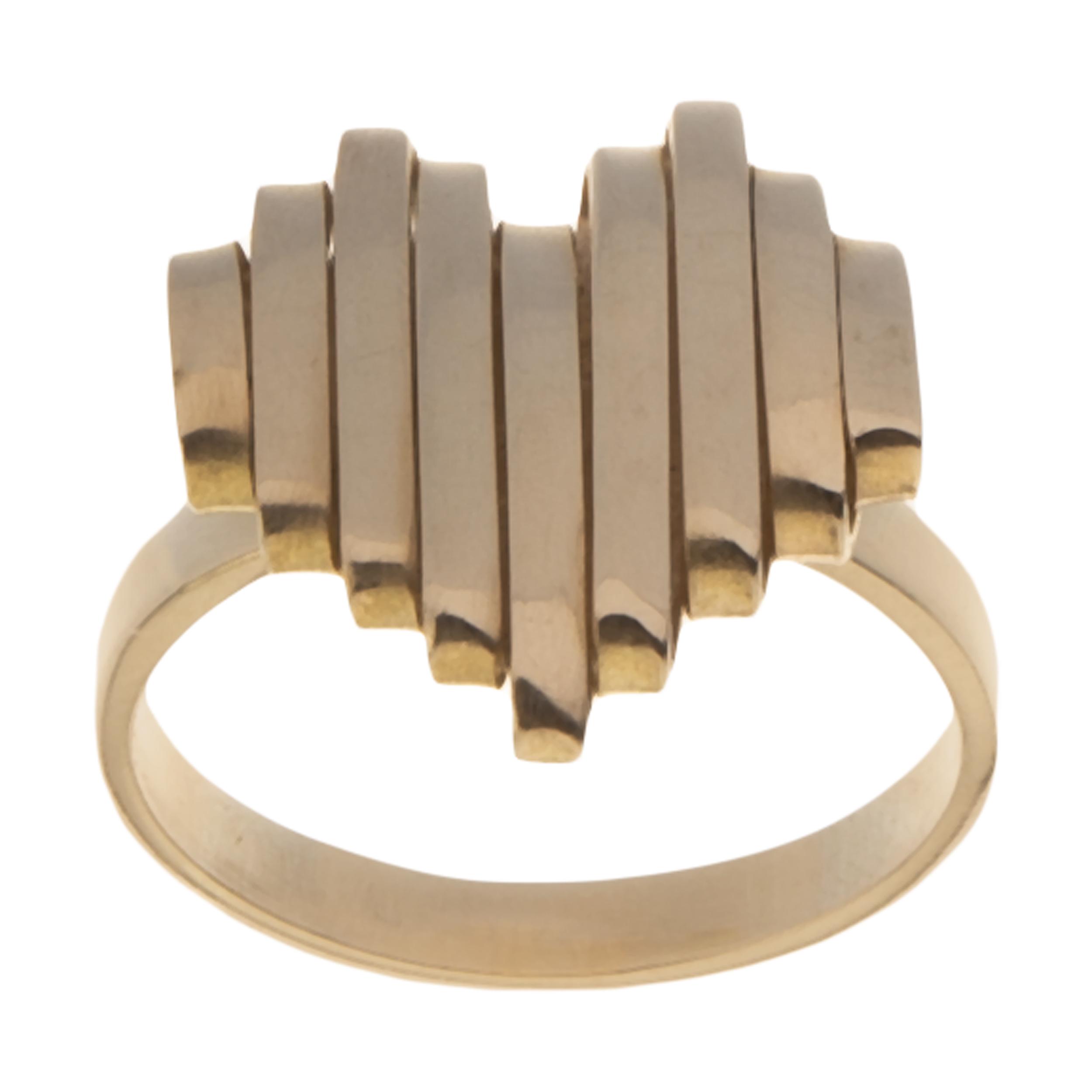 انگشتر طلا 18 عیار زنانه سنجاق مدل X045664