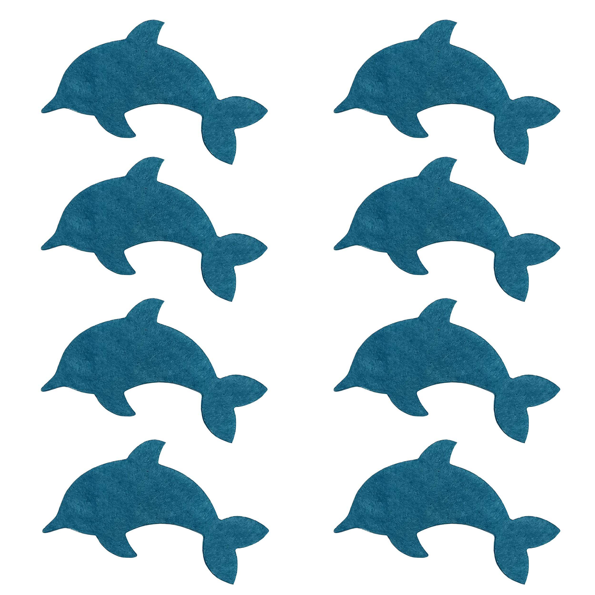 الگو نمد طرح دلفین مدل OND08 بسته 8 عددی