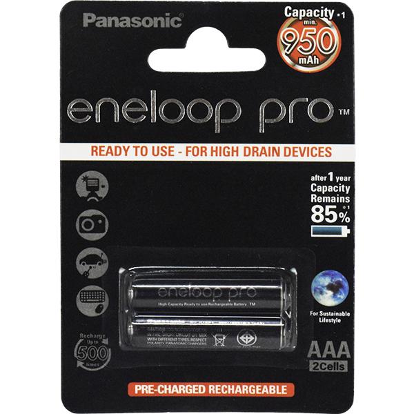 باتری نیم قلمی قابل شارژ پاناسونیک مدل eneloop pro_329 بسته 2عددی
