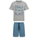 ست تی شرت و شلوارک مردانه لیورجی مدل 312366