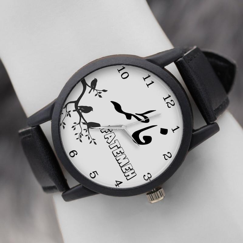 ساعت مچی عقربه ای زنانه طرح فاطمه کد LF3057