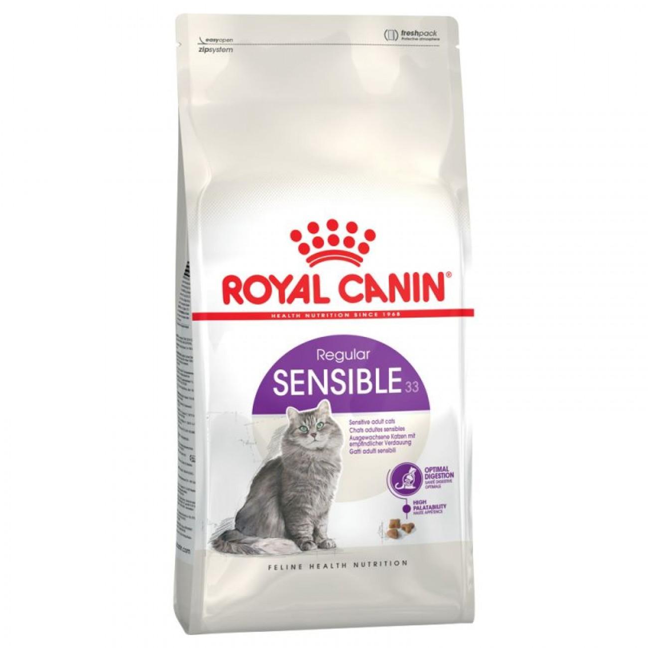 غذای خشک گربه بالغ رویال کنین مدل Sensible 33 وزن 2 کیلوگرم