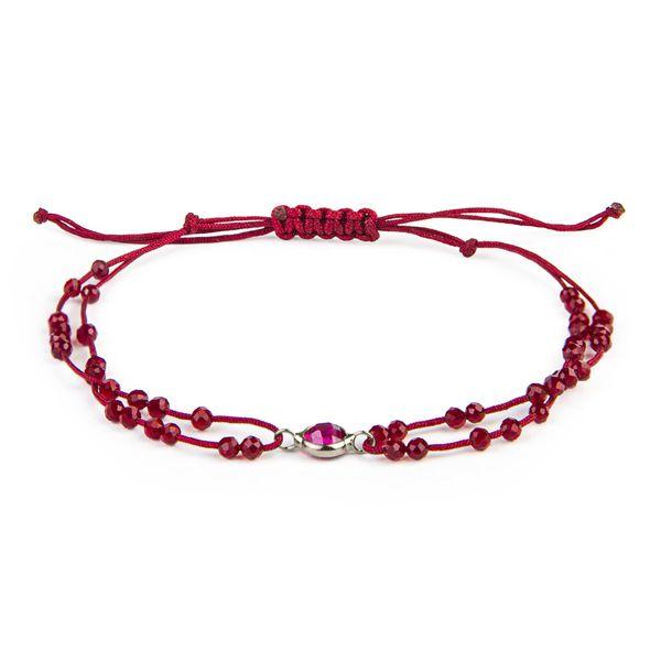 دستبند نقره زنانه ریسه گالری مدل ۰۰۱