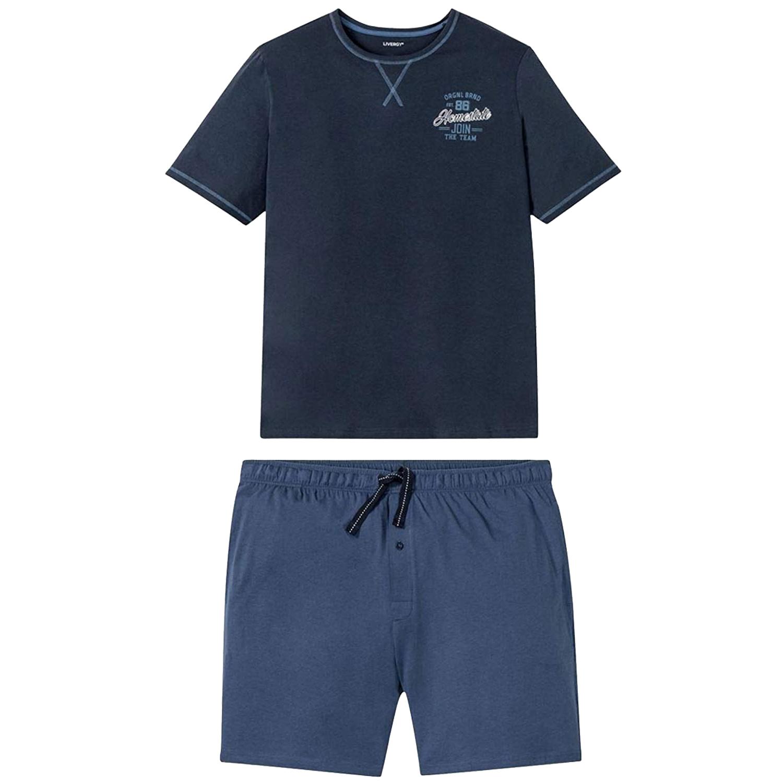 ست تی شرت و شلوارک مردانه لیورجی مدل LV01