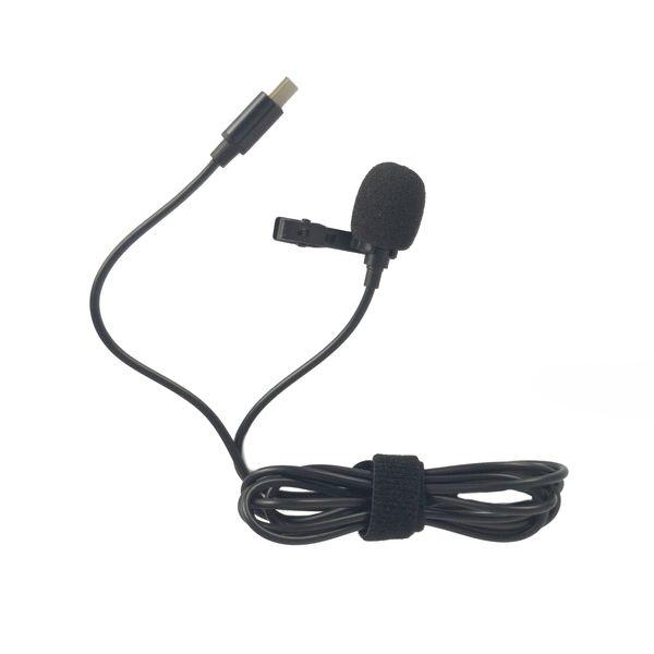 میکروفون یقه ای مدل typ-c همراه با خروجی صدا