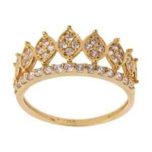انگشتر طلا 18 عیار زنانه کانیار گالری کد AN14