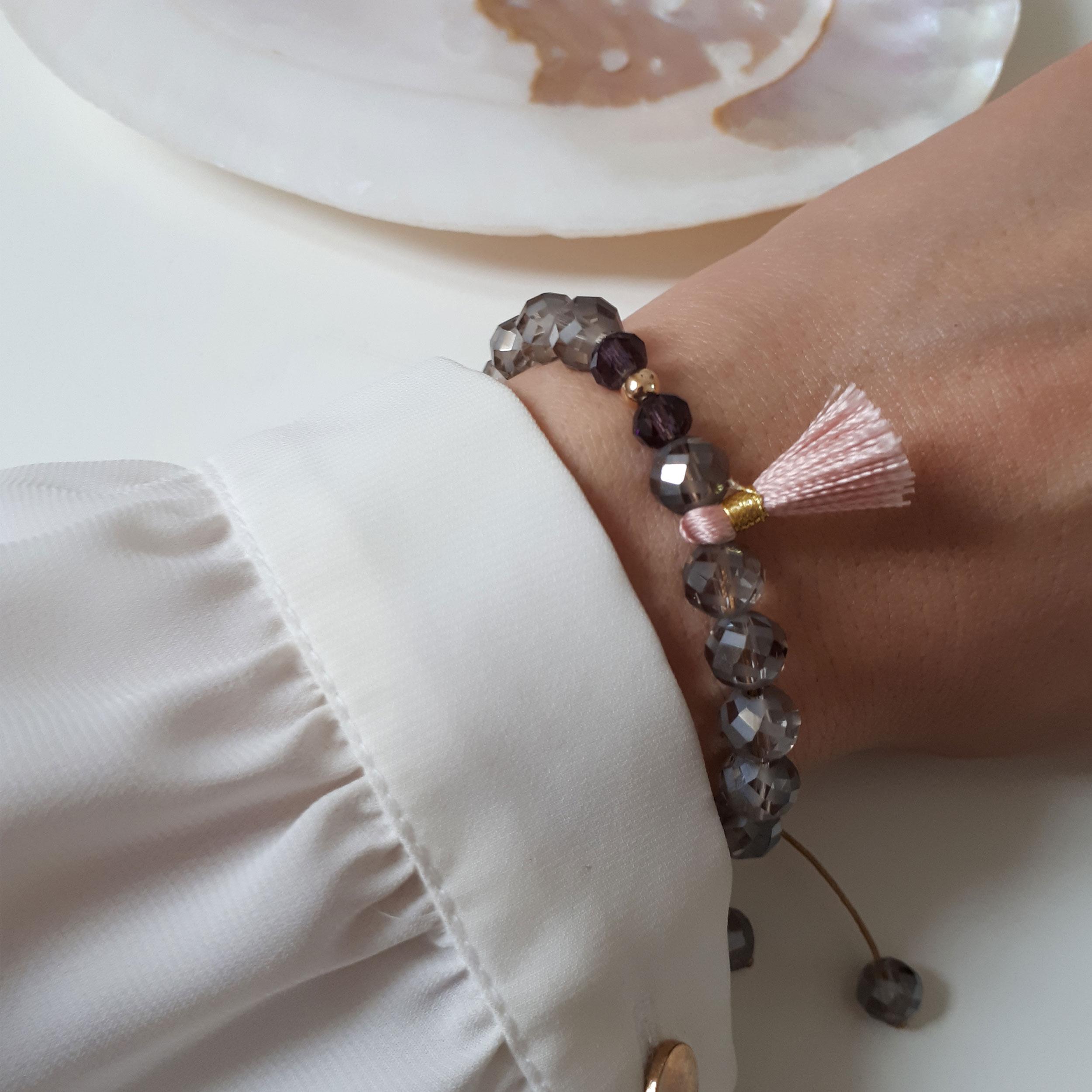 دستبند طلا 18 عیار زنانه الماسین آذر کد Crist02