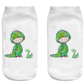 جوراب بچگانه طرح دایناسور کوچولو