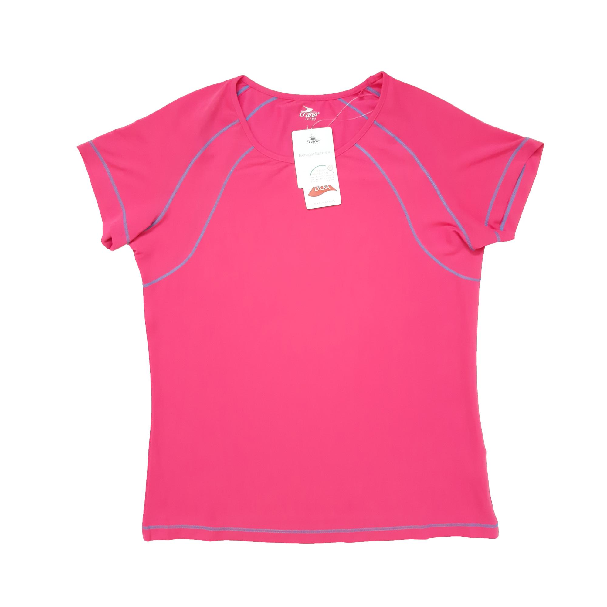 تی شرت آستین کوتاه ورزشی دخترانه کرین مدل T_SHDS_01