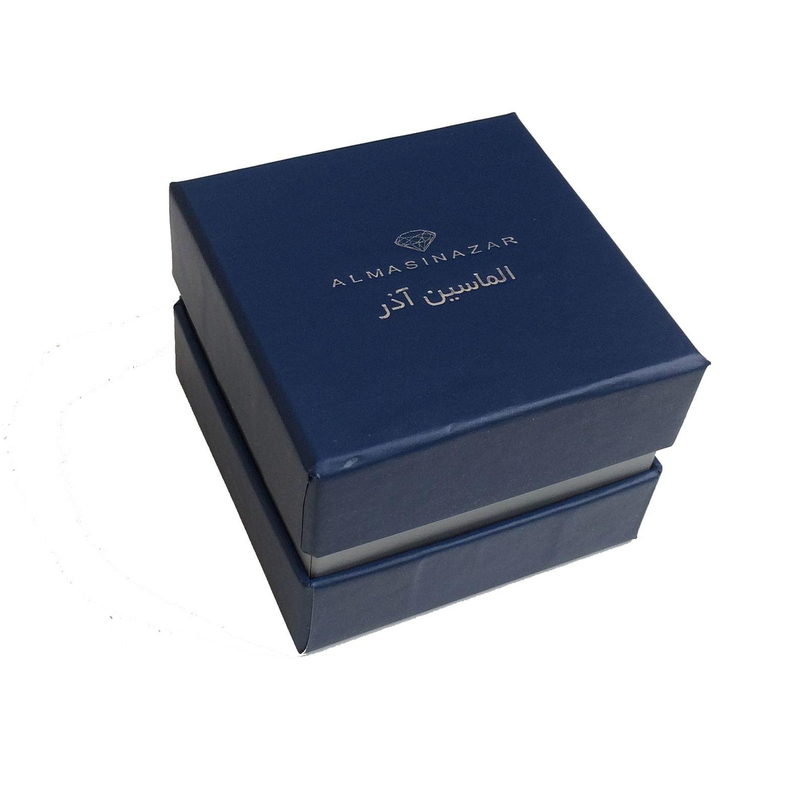 دستبند طلا 18 عیار زنانه الماسین آذر کد ZANBUR01 -  - 5