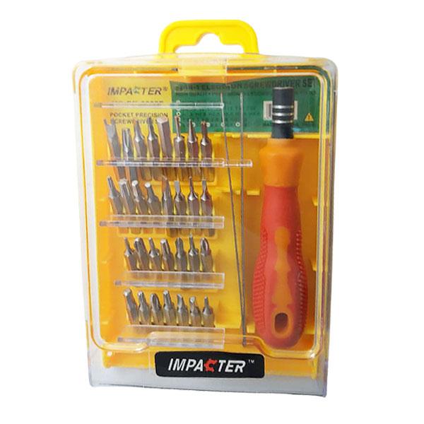 مجموعه  33 عددی سری پیچ گوشتی موبایلی ایمپکتور مدل  ME-6032E