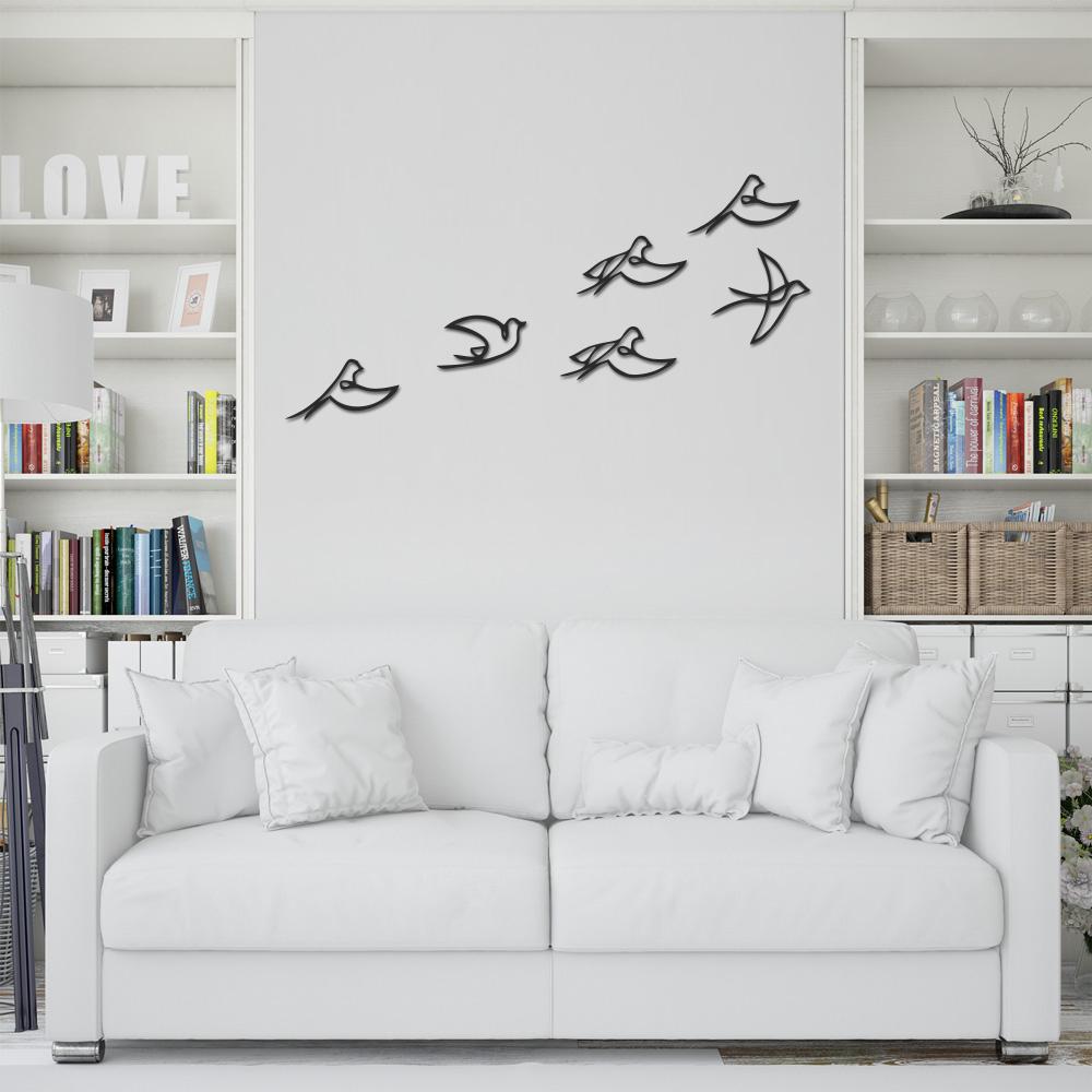 استیکر چوبی طرح پرنده مجموعه ۶ عددی