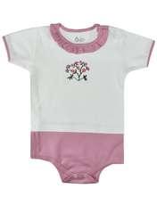 بادی نوزادی دخترانه نیروان طرح گل -  - 1