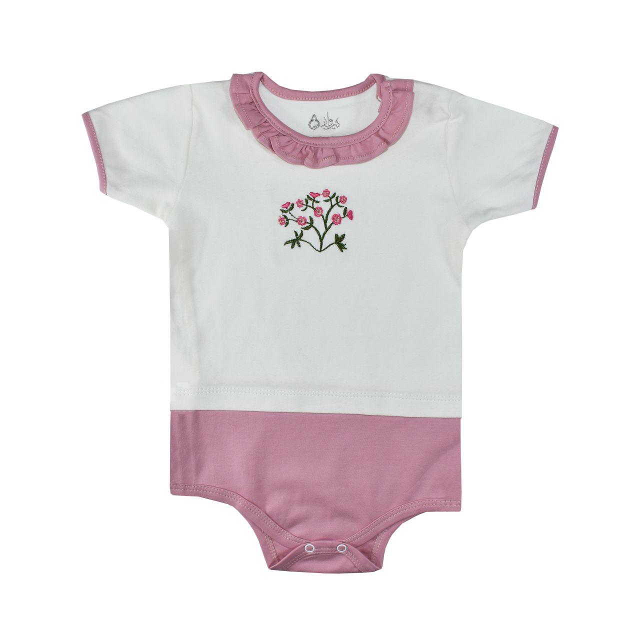 ست 5 تکه لباس نوزادی نیروان طرح گل کد 4 -  - 13