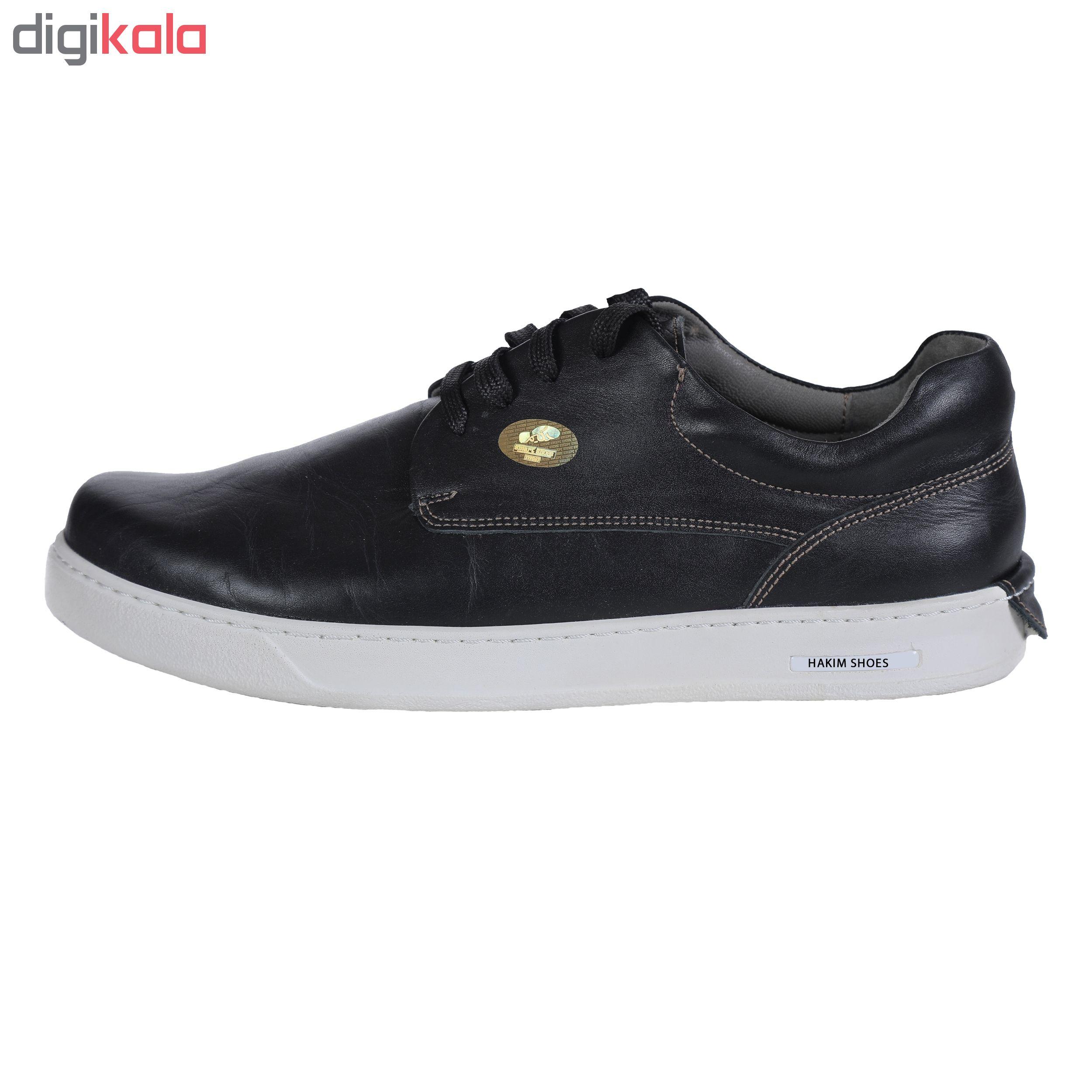 کفش روزمره هوشمند مردانه حکیم مدل T5B رنگ مشکی
