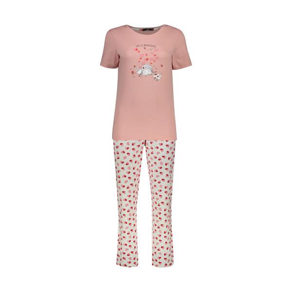 ست تی شرت و شلوار زنانه جامه پوش آرا مدل 4032019304-8401