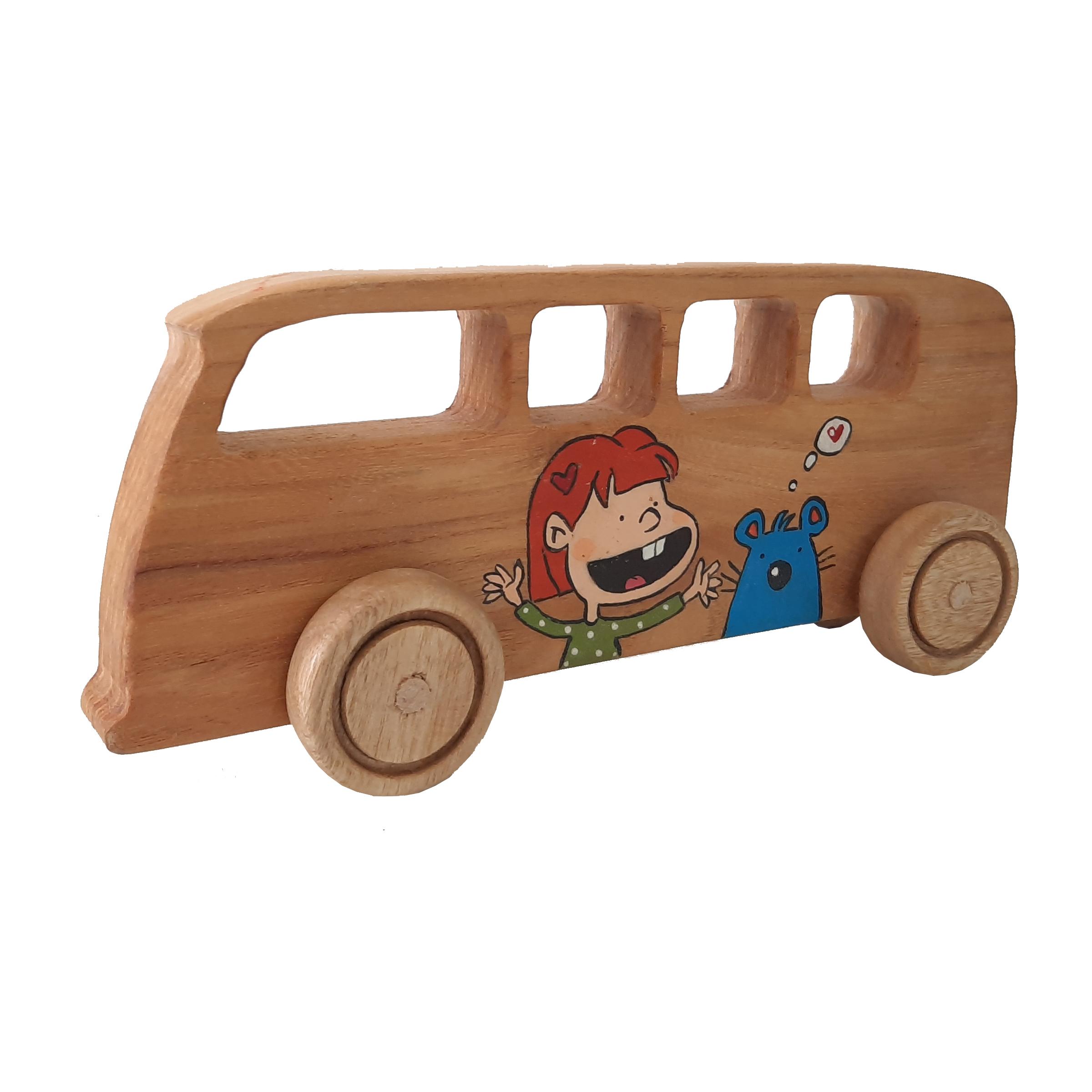 خرید                      اسباب بازی چوبی طرح اتوبوس کد 066
