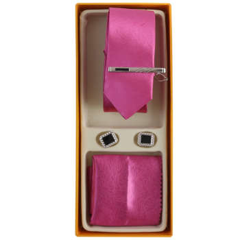 ست کراوات و دستمال جیب و دکمه سردست مردانه فرانکو فروزی مدل F-102097