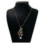 گردنبند نقره زنانه دلی جم طرح جان وجهانی  کد D 508