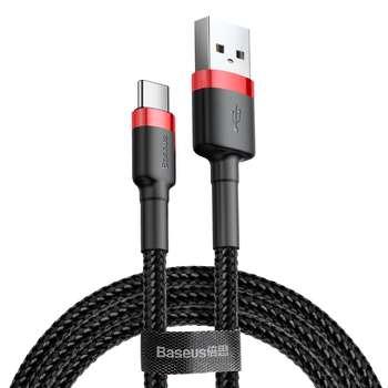 کابل تبدیل USB به USB-C باسئوس مدل CATKLF-U91 Cafule طول 3 متر