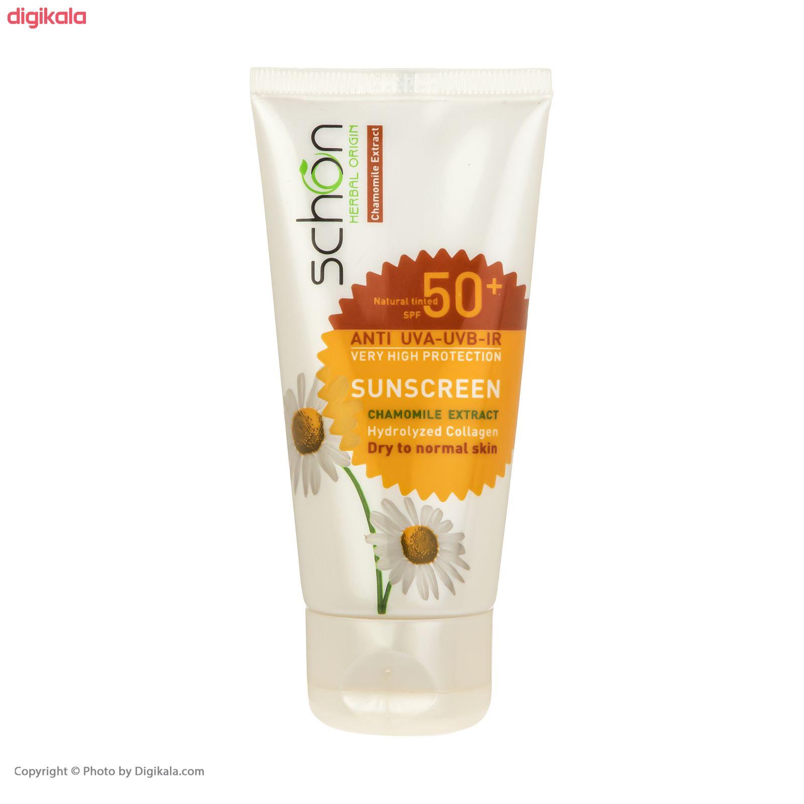 کرم ضد آفتاب شون با رنگ طبیعی +SPF50 main 1 1