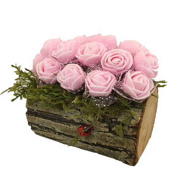 گلدان به همراه گل مصنوعی مدل درختی کد 61