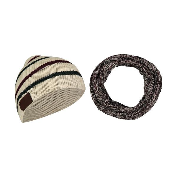 ست کلاه و شال گردن بافتنی زنانه رویا مدل 20028-47