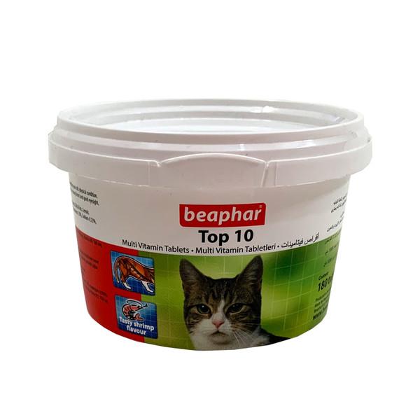 قرص مولتی ویتامین گربه بیفار مدل Top بسته ۱۸۰ عددی