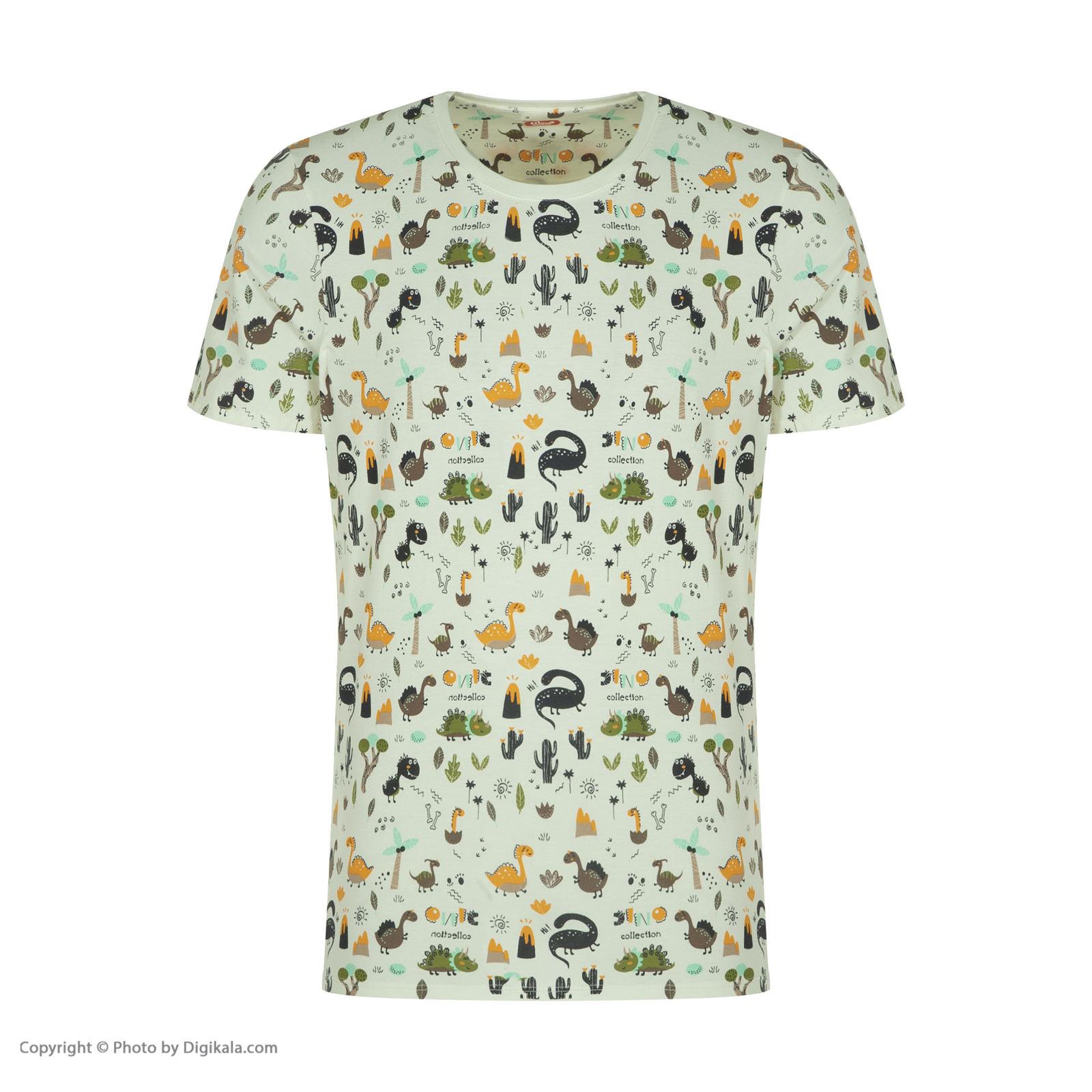 ست تی شرت و شلوارک راحتی مردانه مادر مدل 2041110-52 -  - 4