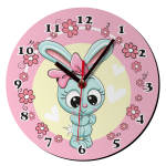 ساعت دیواری کودک ژیوار مدل خرگوش کد 75