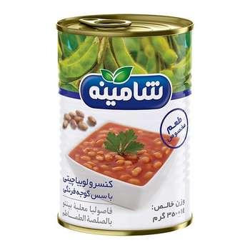کنسرو لوبیا چیتی با سس گوجه فرنگی شامینه - 350 گرم