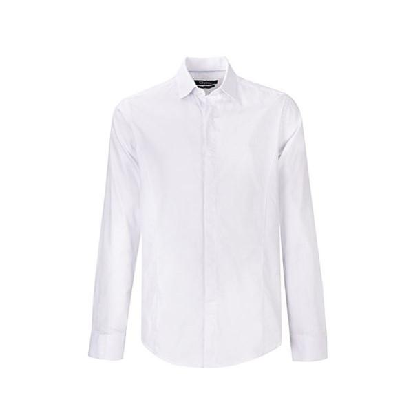پیراهن آستین بلند مردانه بادی اسپینر مدل 2679 کد 1 رنگ سفید