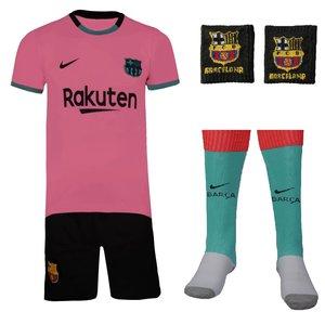 ست 4 تکه لباس ورزشی پسرانه طرح بارسلونا مدل مسی کد 2021 3RD