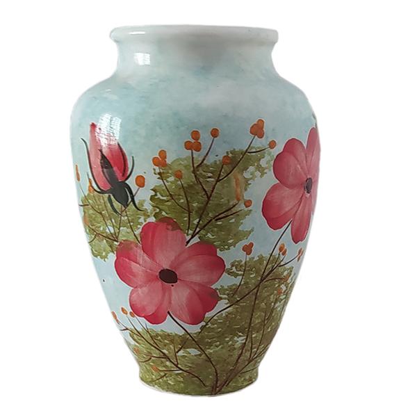 خرید                      گلدان سرامیکی طرح گل رز کد e128