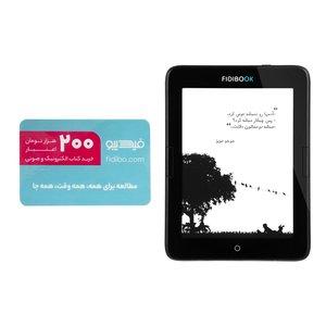 کتاب خوان فیدیبوک مدل Hannah F1 WiFi ظرفیت 8 گیگابایت همراه با کارت اعتبار 200000 تومانی فیدیبو