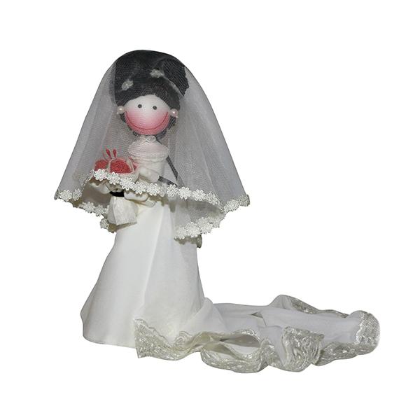 عروسک سوزی مدل عروس لارا  کد 1106 ارتفاع 28 سانتی متر