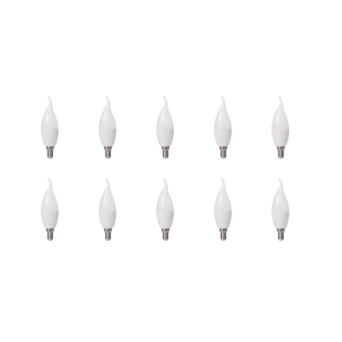 لامپ ال ای دی 7 وات جریکو مدل شمعی پایه E14 بسته 10 عددی