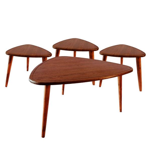 میز پذیرایی مدل ارغوان کد ۵۰۰ مجموعه 4 عددی