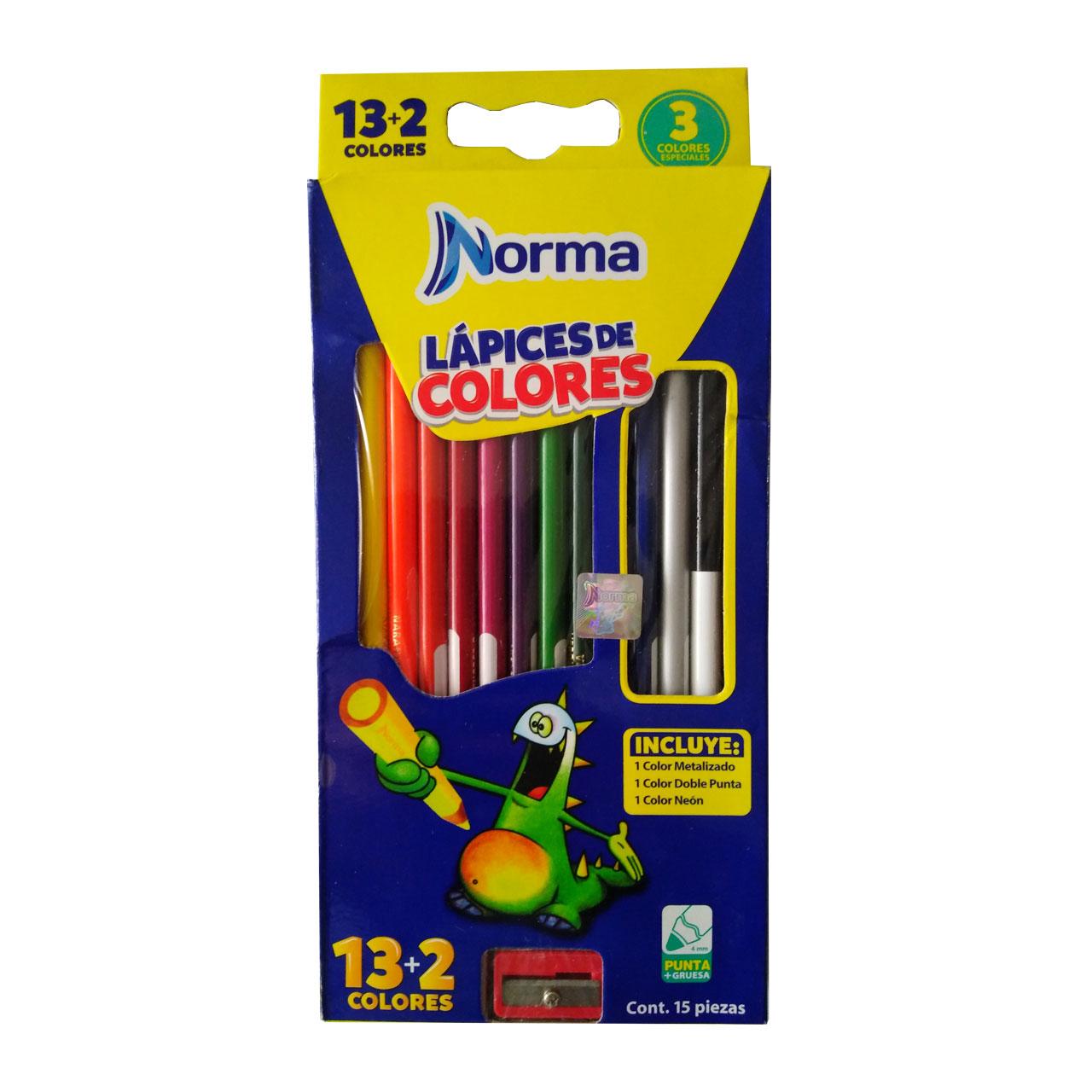 مداد رنگی 15 رنگ نورما کد 0015
