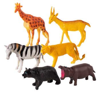 فیگور طرح حیوانات جنگل مدل Animal Kingdom  کد 1 بسته 6 عددی