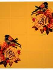روسری زنانه 27 طرح پرنده و گل کد H06 -  - 10