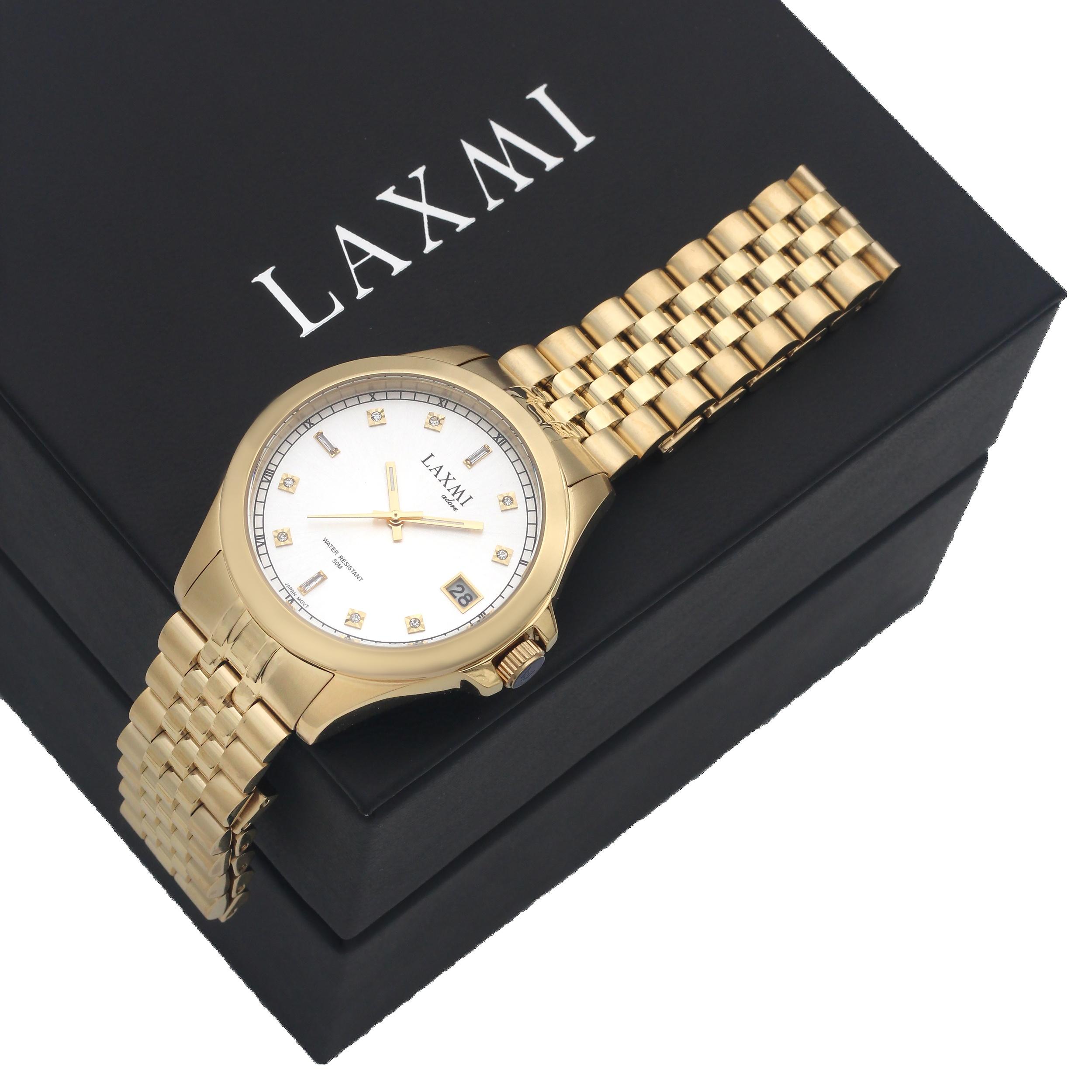 ست ساعت مچی عقربه ای زنانه و مردانه  لاکسمی مدل 8506L